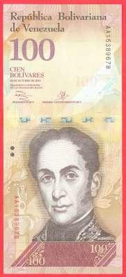 Венесуэла 100 боливаров 2013 г