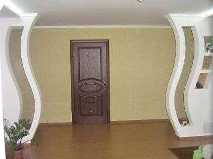 Гипсокартонные работы (потолок, стены, арки, перегородки)