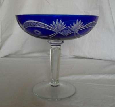 Ваза синего стекла 1950 года