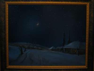 Зимний пейзаж. Картина маслом Художник Виталий Красов