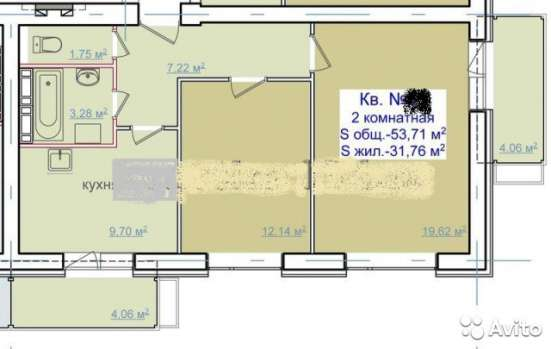 Продаю двух комнатную квартиру