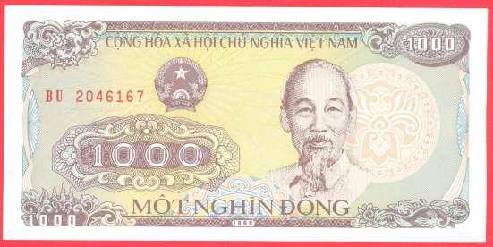Вьетнам 1000 донгов 1988 г