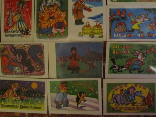 Календарики 70-х -80-х годов, мультфильмы в Краснодаре Фото 2