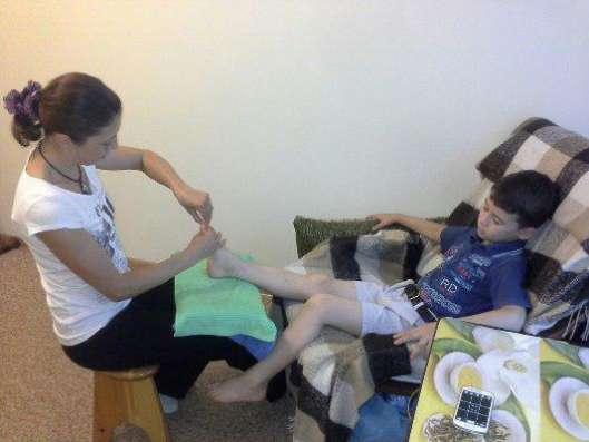 Обучение массажу стоп. Обучение рефлекторному массажу стоп