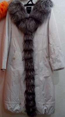 Пальто жен. зим. на крол. подкладе с отделкой из чернобурки