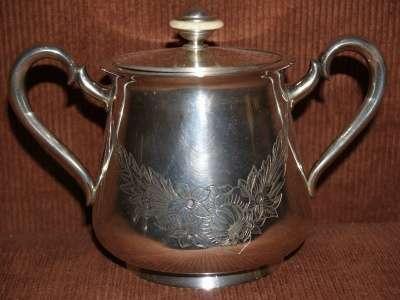 Старинный чайный сервиз из 3-х предметов