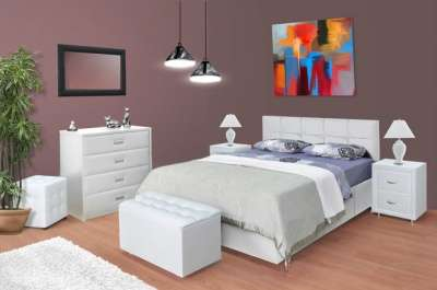 Кровать двуспальная Бергамо с матрасом