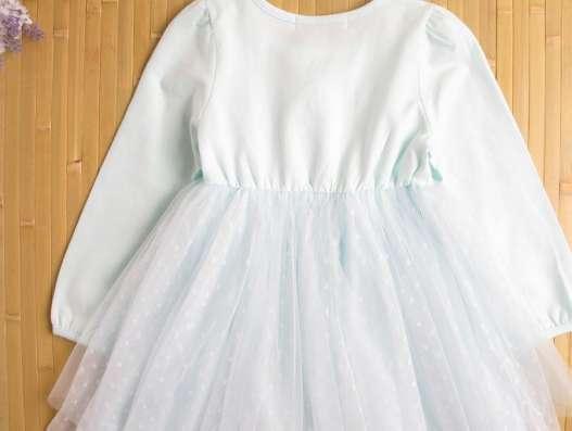 Платье голубое хлопковое