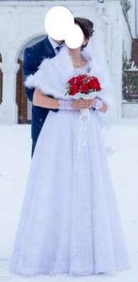 Кружевное свадебное платье + накидка в Москве Фото 2