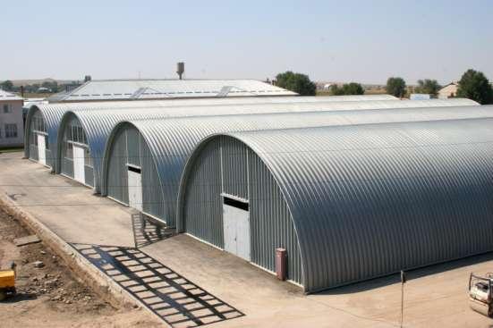 Строительство мобильных бескаркасных ангаров в г. Семей