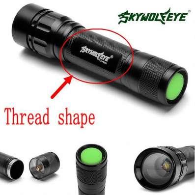 Новый светодиодный фонарь фирмы Skywolfeye черный