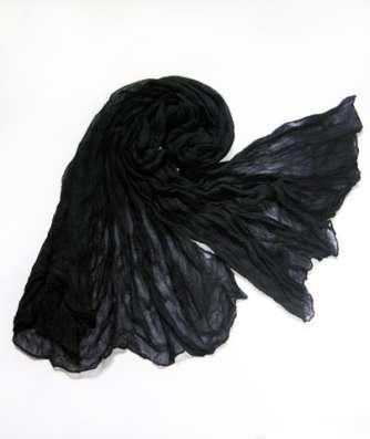 Чёрный шарф - палантин (не требует глажки)