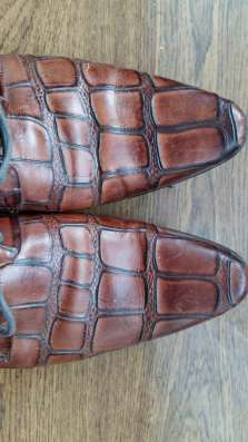 Туфли кожаные. Lucio Righertto.тиснение под крокодила.43 р-р в Краснодаре Фото 1