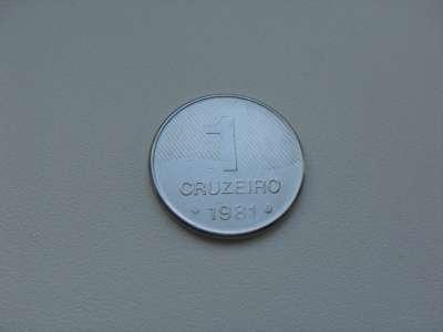 Монета 1 Крузейро 1981 год Бразил