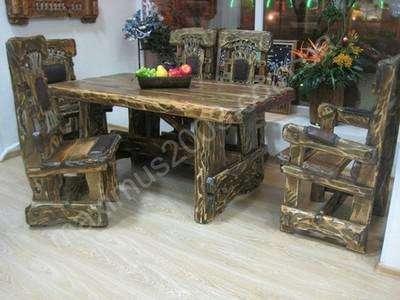 Столы под старину из дерева в Екатеринбурге Фото 4