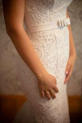 Ослепительное свадебное платье, кружевное