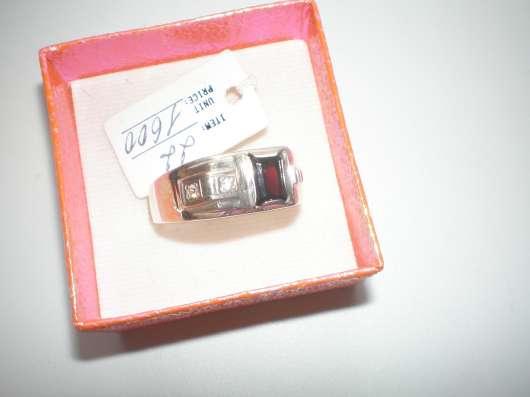 Авторский серебряный мужской перстень с натуральным гранатом в г. Харьков Фото 1