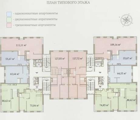 Апартаменты 114.8 м2 в элитном комплексе «Гороховский 12» в Москве Фото 1