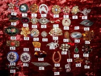 Старинные Броши и кольца