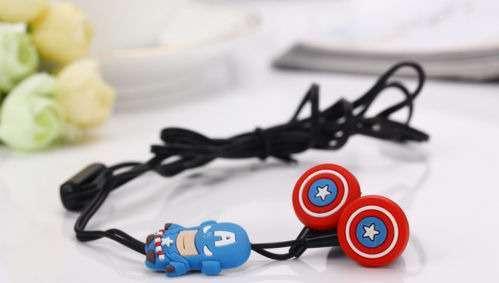 Классные наушники Капитан Америка