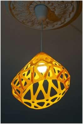 Светильник ZAHA LIGHT подвесной, желтый в Санкт-Петербурге Фото 5
