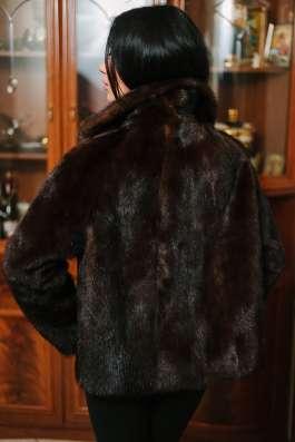 Норковая куртка scanbrown, автомобилка, 42-46