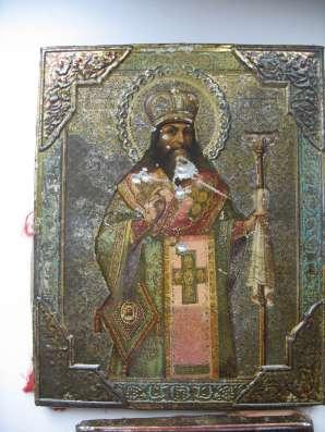 Старинныеиконы. Серафим Саровский, Феодосий, Николай