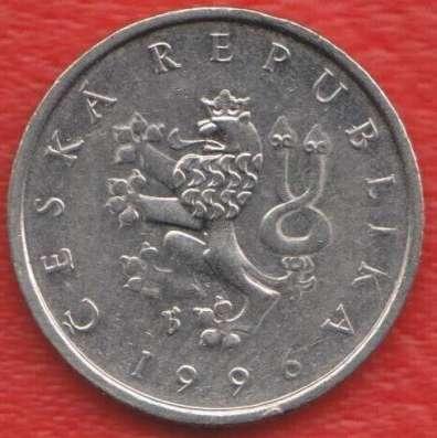 Чехия 1 крона 1996 г. в Орле Фото 1