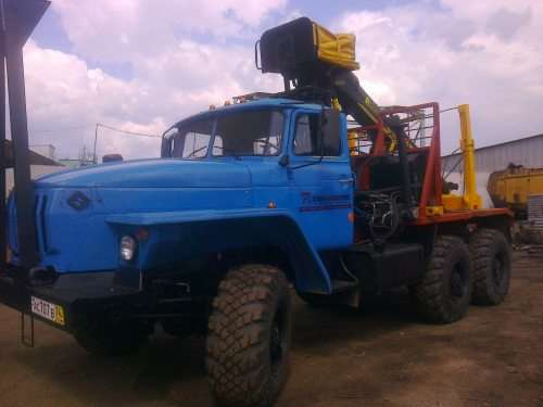 Лесовоз Урал 4320 полный кап ремонт 2016 с новым кму ПЛ-97