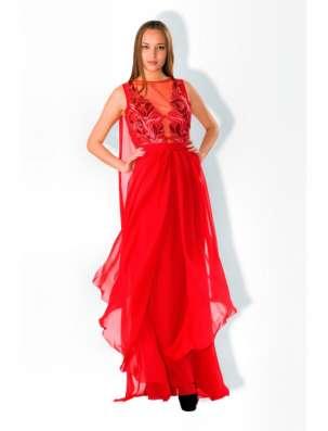 Красное вечернее платье в пол в Москве Фото 2