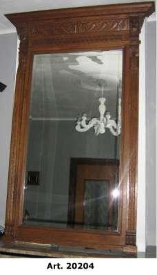 Антикварное зеркало в стиле Ренессанс Западная Европа, Бельгия Зеркало в раме